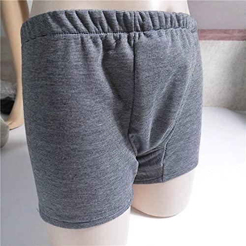 YNHUIOA Bragas de incontinencia para Ancianos - Pañales Lavables para Hombres para Pacientes con incontinencia, encamados y obesos - Pantalones Reutilizables para Pacientes,M