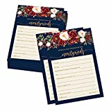 50 Floral Wedding Advice Cards For Bride and Groom, Wedding Guest Book Alternative, Advice and Wishes For The Mr and Mrs, Advice For The Bride, Bridal Shower Advice Cards, Wedding Card Boxes Reception
