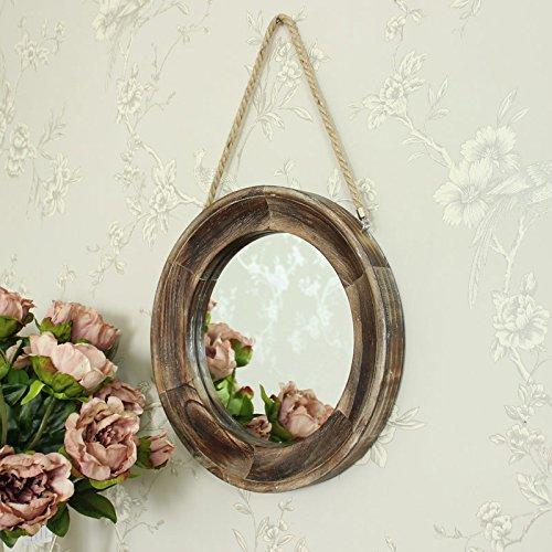 Melody Maison Specchio da parete rotondo in legno
