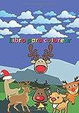 Libro para colorear: Cuaderno infantil - Libro de dibujo de Rennes - Ciervo - Animales