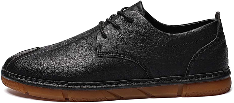 CHENJUAN Schuhe Männer Freizeit PU Leder Casual Neue Einfache Komfortable Retro Trend Rutschfeste Schuhe  | Elegant