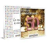 Smartbox - Coffret Cadeau Femme Homme - Joyeux Anniversaire ! pour Femme 50 Ans - idée Cadeau Anniversaire - 1 séjour ou 1 activité pour 2 Personnes