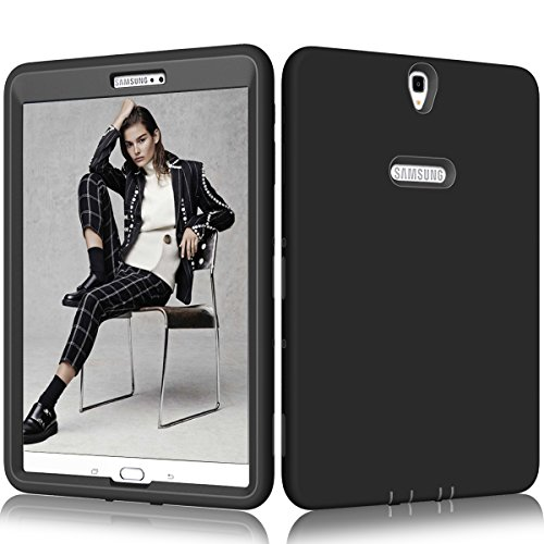 """Beimu Coque pour Galaxy Tab S3 9.7 PC + Silicone Hybride résistant aux Chocs et aux Chocs pour Samsung Galaxy Tab S3 9.7"""" (SM-T820/SM-825)"""