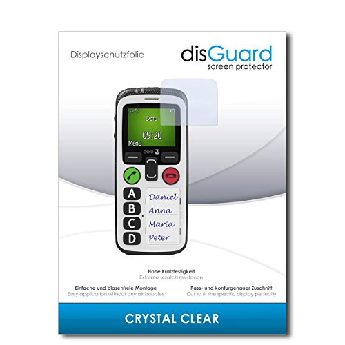 disGuard® Bildschirmschutzfolie [Crystal Clear] kompatibel mit Doro Secure 580 IP [3 Stück] Kristallklar, Transparent, Unsichtbar, Extrem Kratzfest, Anti-Fingerabdruck - Panzerglas Folie, Schutzfolie