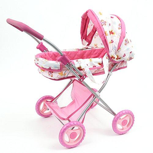 Mamatoy MMA06000-Mama Mia Glam, Landau Jouet pour poupées, fantaisie fleurs et papillons