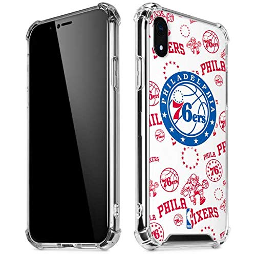 Skinit Clear Phone Case Compatible with iPhone XR - Officially Licensed NBA Philadelphia 76ers Blast Design Connecticut
