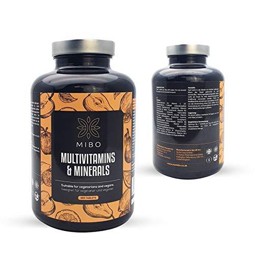 Vegan Multivitamins & Minerals - 365 Tablets Bottle by Mibo