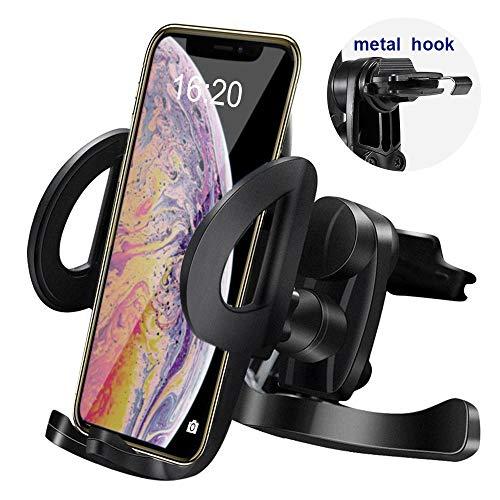 IPOW [Fácil Montaje ventilación Soporte Smartphone Soporte para teléfono móvil para iPhone 8/7 Plus/7/6/6 Plus/6S/5S/5 & Samsung Galaxy S7/S6/S5/S4 HTC Huawei etc.