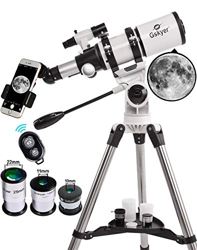 Gskyer Telescope, Telescopes for Adults, 80mm AZ Space Astronomical Refractor Telescope, Telescope for Kids, Telescopes for Adults Astronomy, German Technology Scope