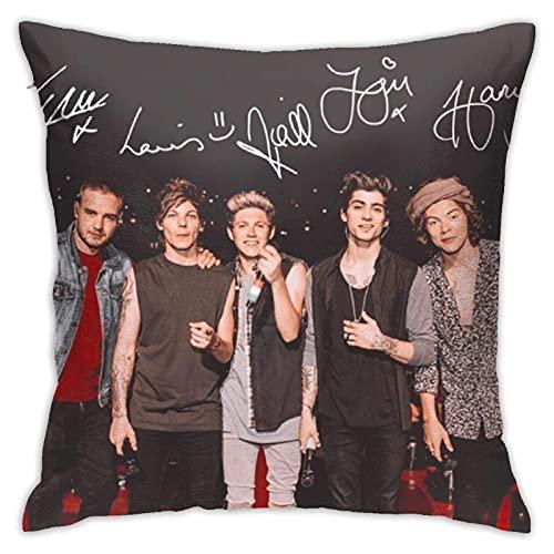 LINKIOM Fundas de Cojines Sala de Estar sofá Cama decoración del hogar One-Direction-Harry Fundas de Almohada para Varias escenas 45cm x 45cm