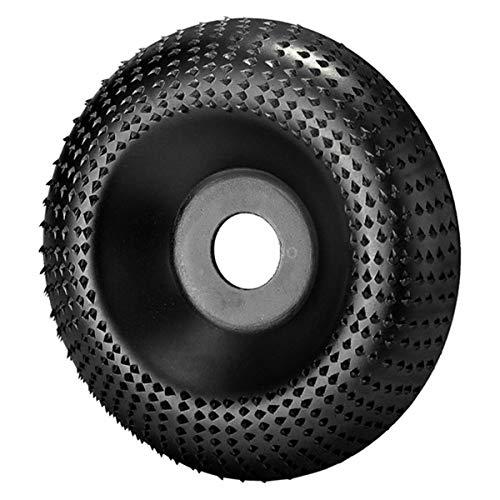 LanGuShi LGJ0305 Rueda de molienda de ángulo de Madera de 74 mm 16 mm Bore Lijado Talla Tallado Rotonda Herramienta Scratchy Disc Multifunción (Color : Black)