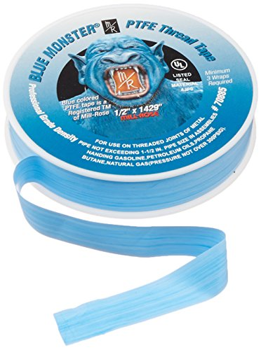 Mill-Rose Blue Monster PTFE Pipe Thread Sealant Tape – 1/2 in. x 119 ft.
