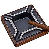 OH Novedad Creativa Cenicero Decoraciones Arte Artesanía Cenicero Cigarro Metal Madera Sólido Cenicero para la Decoración de la Oficina en Casa Exquisito