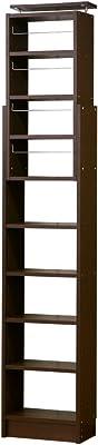 クロシオ 耐震 奥深 天井つっぱり書棚 ブラウン 幅450 x 奥行260 A4本棚 高さ1900~2600mm