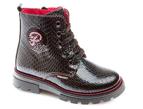 Pablosky BEPOILI Bottines/Boots Filles Gris - 30 - Boots