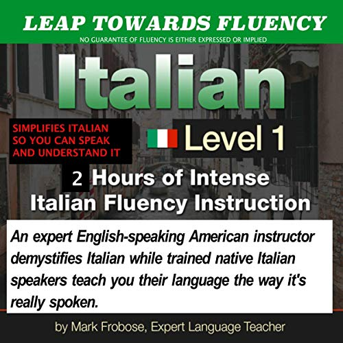 Couverture de Leap Towards Fluency Italian I