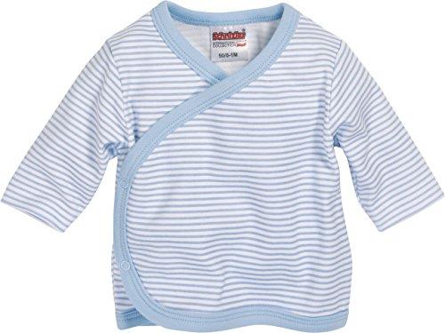Playshoes GmbH Schnizler Unisex Baby Flügelhemd Langarm Ringel Kleinkind Unterwäsche-Satz, Blau (weiß/bleu 117), 50