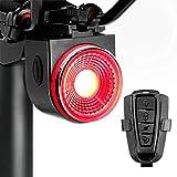 PADONOW Smart Bike Tail Light: Rear Bicycle Brake Light USB Rechargeable Wireless Anti-Theft Alarm Taillight Auto Red Led Flashing Back Lights Waterproof Road Cycling High Lumen Daytime Strobe Light