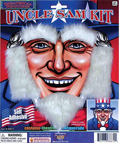 Forum Novelties Deluxe Uncle Sam Moustache & Beard Adult Costume Set One Size