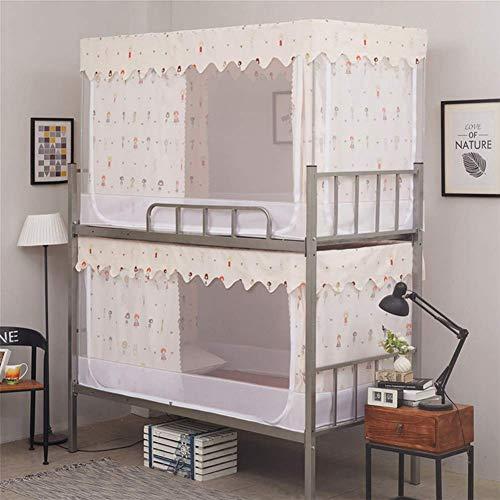 AGQLT Muggennet Bed luifel Zomer Student Slaapzaal Afstotend Stapelbedden Opvouwbare Muggenbalk Eenvoudige installatie