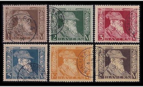Goldhahn Bayern Nr. 86-91I gestempelt Luitpold Markwerte Briefmarken für Sammler