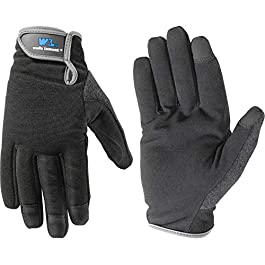 Kids Spandex Work Gloves with Adjustable Wrist (Wells Lamont 7700Y)