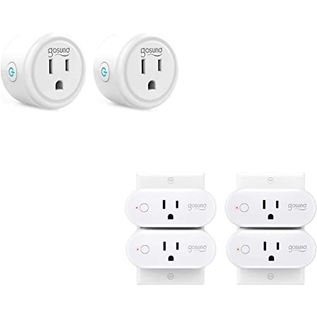 Smart Plug 6 Pack, Gosund Smart Mini Plug 2 Pack Bundle with Gosund Smart 15A Plug 4 Pack