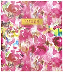 Includes (1) floral watercolor 'addresses' refillable 6-ring address book. Measures 6.5'' W x 7.25'' L and has space for 440 entries. Add a splash of color to your contact with our vibrant and beautiful floral watercolor address book! Each contact en...