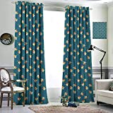 Jktown Pinwheel Insulated Grommet Curtains Blackout Draperies for Baby Bedroom 96x108 inch Pinwheel in Graphic Pattern Playroom Nursery Baby Summer Fun Plays Illustration Multicolor