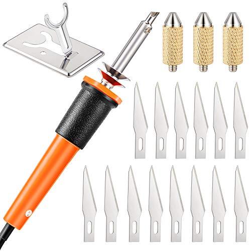 19 Pieces Electric Hot Knife Cutter Tool, Hot Knife Multipurpose Stencil Cutter...