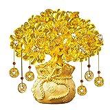 Árbol del dinero bonsai feng shui Wine Room gabinete Decoración Home Living Bonsai fortuna árbol del dinero for la buena suerte, riqueza y prosperidad-Home Office Decor espiritual apertura de regalos