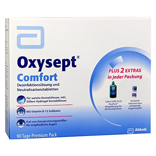 Amo Oxysept Comfort 90 Tage Premium Pack Kombipackung, Dioptrien, 900 ml