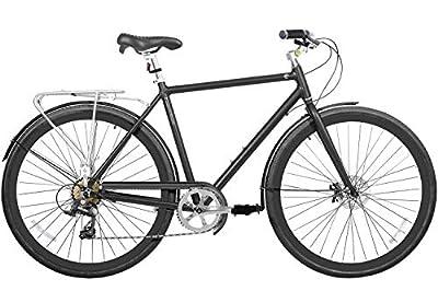 "700 (28"") Light Aluminium Disc Brake 7 Speed Fire Shifter City Bike Commuter Comfort Gama Bikes Metropole Men Grey Hound"