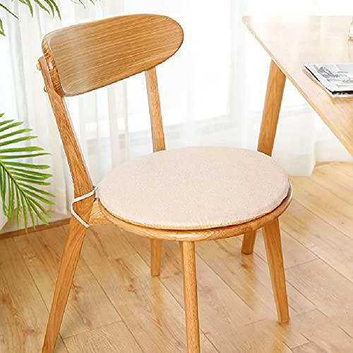 LucaSng 42×42 Cojines Redondos sillas Cojines sillas Exterior Cojines para sillas de Cocina Cojines Redondos Utiliza un núcleo de Esponja de Alta Densidad con un diseño Doble Antideslizante.
