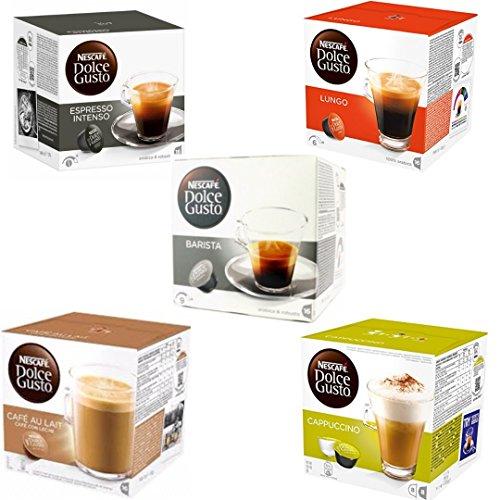 Pack Degustación Dolce Gusto - Espresso Intenso - Lungo - Barista -Cafe Con Leche - Cappuccino