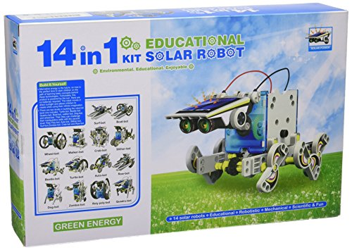 CEBEKIT-C9921 CEBEK Kit Educativo Solar 14 EN 1, Color Amarillo (C9921)