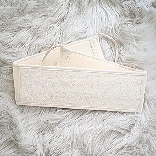 Eco Memos Depurador exfoliante natural para la espalda, 70 cm, esponja exfoliante orgánica, esponja exfoliante de lufa para baño, cepillo para masaje de spa, cuidado de la piel