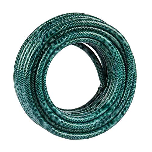 garden mile 15M, 30M, 50M Reinforced Garden Hose Pipe Water Hose Strong Reliable Flexible for Home, Garden, Patio & Car Cleaning Outdoor (30M)