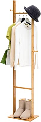 Amazon.com: Mei Xu Wooden Coat Rack,Full-Length Mirror ...