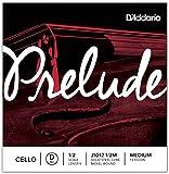 Cuerda individual Re para violonchelo Prelude de D'Addario, escala 1/2, tensión media (J1012 1/2M)