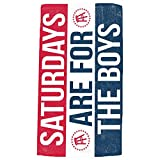 SATURDAYS ARE FOR THE BOYS Beach Towel from Barstool Sports, Perfect for Tailgating College Fraternities Weekend Sports