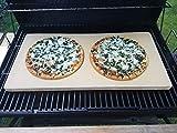 Bearbeitete Pizzaplatte 60 x 30 x 3 cm Backofenplatte Brotbackplatte Pizzastein Brotbackplatte Pizzastein Flammkuchen Nachbearbeitet per Hand ohne scharfe Kanten