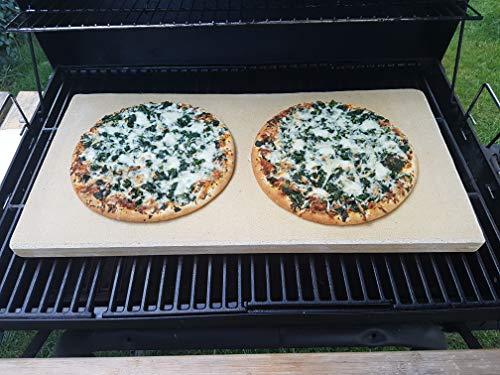 Bearbeitete Pizzaplatte 60 x 30 x 3 cm Backofenplatte Brotbackplatte Pizzastein Brotbackplatte Pizzastein Flammkuchen Nachbearbeitet per Hand ohne scharfe Kanten massive Schamotte