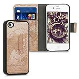 kwmobile Coque Apple iPhone 4 / 4S - Étui Portefeuille Détachable pour Apple iPhone...