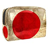 Neceseres para Maquillaje de niños Bandera Nacional de Japón Animales Bonitos Bolsa de Almacenamiento de Viaje Impermeable de PVC Impresa Personalizada 18.5x7.5x13cm