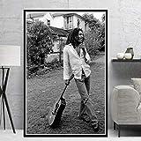 QINGRENJIE Wandkunst Bild Poster Bob Marley Sänger Star
