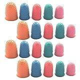 Reutilizable dedos de goma Dedal de goma de oficina Dedal de Goma Dedos Protectores Dedos de goma antideslizante para el...