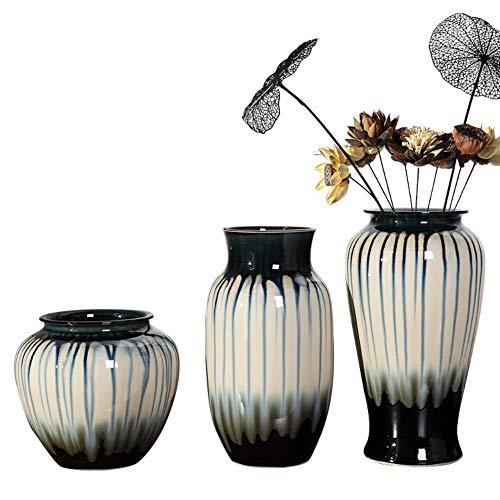 TELMU Retro Keramik Vase Foreign Jingdezhen dreiteiligen Ball kreative Home