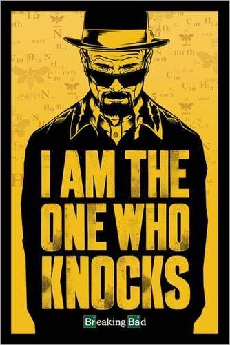 Tainsi Breaking Bad - I am The One Who Knocks Poster-11 x 17 pollici, 28 x 43 cm