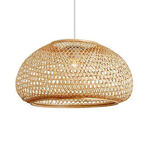 CKH Japonais Creative Restaurant Lustre Chinois Lampe Personnalit/é Restaurant D/écoration Bambou Art LED Rond Lampe